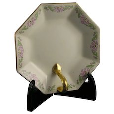 "Limoges 'Mark 6' Floral Design Lemon Server/Tray (Signed ""E.F.W.""/c.1910-1930)"