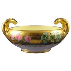 "Stouffer Studios Clover Design Handled Bowl (Signed ""W. Sten""/c.1906-1914)"