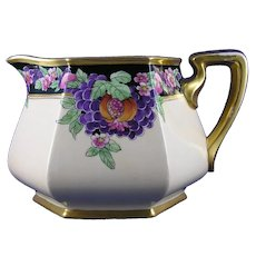 "Pickard Studios ""Purple Grapes & Pomegranates"" Pattern Pitcher (Signed ""Rean""/c.1918-1919)"