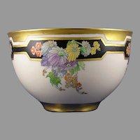 Lenox Belleek (American) Enameled Floral Design Centerpiece Bowl (c. 1906-1924)
