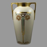 "CT Altwasser Silesia Art Deco Lily Design Vase (Signed ""M. Huber""/Dated 1926)"