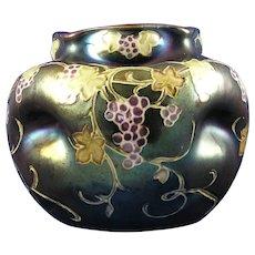 Heliosine Ware Austria Grape Design Vase (c.1900-1915)