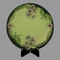 "D&Co. Limoges Daisy Design Plate (Signed ""H. Walne""/c.1901-1930) - Keramic Studio Design"