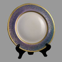 """Pickard Studios """"Tracery & Blue Lustre"""" Design Charger (c.1919-1922)"""