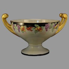 "Hutschenreuther Selb Bavaria Fruit Design Handled Centerpiece Bowl (Signed ""M. Price""/Dated 1930)"