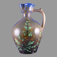 RStK Amphora Austria Arts & Crafts Floral Design Pitcher (c.1900-1904)