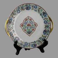 Haviland Limoges Iznik/Islamic/Turkish Floral Design Handled Plate (c.1910-1930)