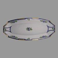"O&EG Austria Rose Design Serving Dish/Tray (Signed ""I. M. Wankel""/Dated 1912)"