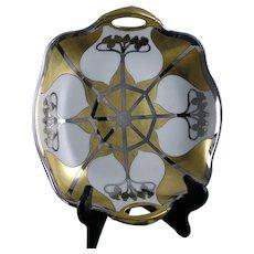 "Pickard Studios ""Aura Argenta"" Design Handled Bowl (Signed ""O. Podlaha""/c.1912-1918)"