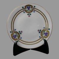 """Thomas Bavaria Iris Design Plate (Signed """"Brinsmaid's Studio""""/c.1908-1930)"""