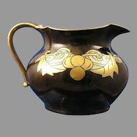 JP Limoges Brown & Gold Grape Design Pitcher (c.1910-1930)