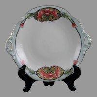 "B&Co. Limoges ""Wild Hollyhock"" Design Bowl (Signed ""M. McHugh""/c.1914-1930) - Keramic Studio Design"