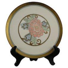 """H&C Selb Bavaria Floral Design Plate (Signed """"C.K.""""/c.1910-1930) - Keramic Studio Design"""