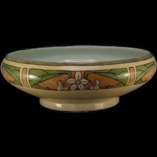 JP Limoges Floral Design Centerpiece Bowl (c.1916-1930's) - Keramic Studio Design
