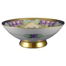 "Pickard Studios ""Violets In Panels"" Design Bowl (Signed ""Wight""/c.1910-1912)"