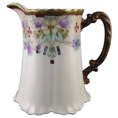 """Haviland Limoges Floral Design Pitcher (Signed """"Isabelle C. Ayers""""/c.1910-1931)"""