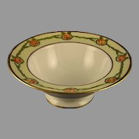 """JP Limoges Floral Design Bowl (Signed """"M.N. Sager""""/Dated 1911)"""