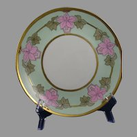 "Hutschenreuther Selb Bavaria Floral Design Plate (Signed ""Anna""/c.1920-1940)"