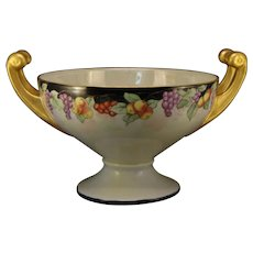 """Hutschenreuther Selb Bavaria Fruit Design Centerpiece Bowl (Signed """"M. Price""""/Dated 1930)"""
