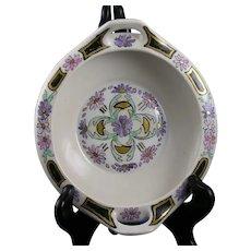 """MZ Austria Floral Design Handled Dish (Signed """"A.L.T.""""/c.1910-1930's)"""