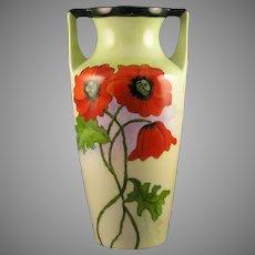 """C.T. Altwasser Silesia Poppy Design Vase (Signed """"C.A. McCune""""/Dated 1924)"""