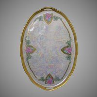 Royal Epiag Czechoslovakia Rose Motif Tray (c.1918-1936)