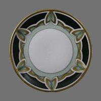 C. Tielsch (C.T.) Altwasser Silesia Geometric Leaf Design Plate (c.1875-1934)