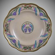 Charles Martin Limoges Parrot or Lovebird & Grapes Design Bowl (c.1891-1930)