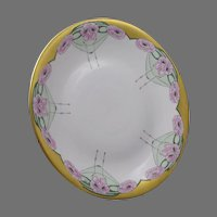 Union Ceramique (U.C.) Limoges Pink Poppy Motif Plate/Charger (c.1909-1938)