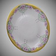 Union Ceramique (U.C.) Limoges Pink Poppy Motif Plate/Charger (c.1909-1938)