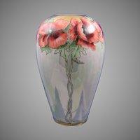 Porcelain Blank Poppy Motif Vase (c.1910-1930)