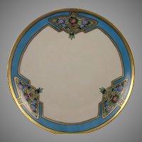 Tirschenreuth (PT) Bavaria Floral Motif Plate (Signed/c.1919-1930) - Keramic Studio Design