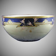 "Ceramic Art Co. (CAC) Belleek (American) ""Shooting Star"" Design Centerpiece Bowl (Signed/c.1906-1924) - Keramic Studio Design"