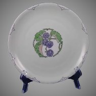 Rosenthal Bavaria Blackberry/Raspberry Motif Plate (Signed/c.1913-1930) - Keramic Studio Design