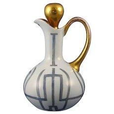 Hutschenreuther Favorite Bavaria Arts & Crafts Cruet/Pitcher (c. 1909-1930) - Keramic Studio Design