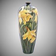 PH Leonard Austria Daffodil Motif Vase (c.1890-1908)