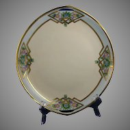 Rosenthal Donatello Bavaria Floral Design Handled Serving Plate (Signed /c.1919-1930) - Keramic Studio Design