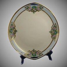 Rosenthal Donatello Bavaria Floral Design Handled Serving Plate (Signed /c.1919-1930) - Keramic Studio Design