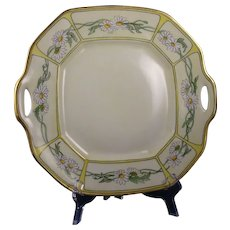 B&Co. Limoges Daisy Motif Handled Serving Plate (Signed/c.1900-1914)