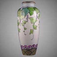 Ernst Wahliss Amphora Austria Alexandra Porcelain Works Arts & Crafts Ivy & Rose Motif Vase (c.1908-1910)