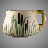Count Thun (TK) Czechoslovakia Cattail Motif Pitcher (c.1918-1939) - Keramic Studio Design