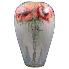Porcelain Blank Poppy & Lustre Design Vase (c.1910-1930)
