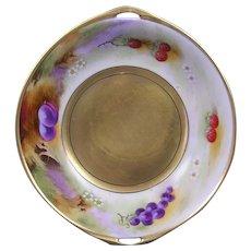 """Pickard Studios """"Deserted Garden"""" Design Handled Bowl (Signed """"J. Nessy"""" /c.1912-1918)"""
