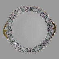 Bavaria Arts & Crafts Rose Design Handled Plate (c.1910-1940)