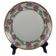 Hutschenreuther Bavaria Arts & Crafts Floral Motif Plate (c.1910-1930)