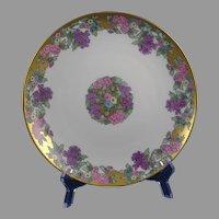 """Bavaria Porcelain Floral Design Plate (Signed """"Marie Quillan""""/c.1909-1930) - Keramic Studio Design"""