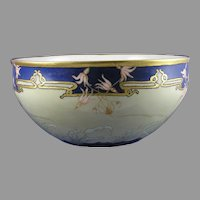 "CAC Belleek (American) ""Shooting Star"" Design Centerpiece Bowl (Signed ""Maria Stauffer""/c.1906-1924) - Keramic Studio Design"