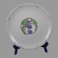 Rosenthal Bavaria Blackberry/Raspberry Design Plate (Signed/c.1913-1930) - Keramic Studio Design