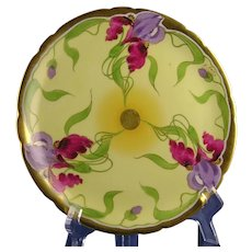 "Stouffer Studios Iris Design Plate (Signed ""E. Feix""/c.1906-1914)"