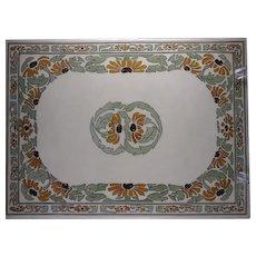 T&V Limoges Black-Eyed Susan Design Tile/Plaque (c.1913-1920) - Keramic Studio Design
